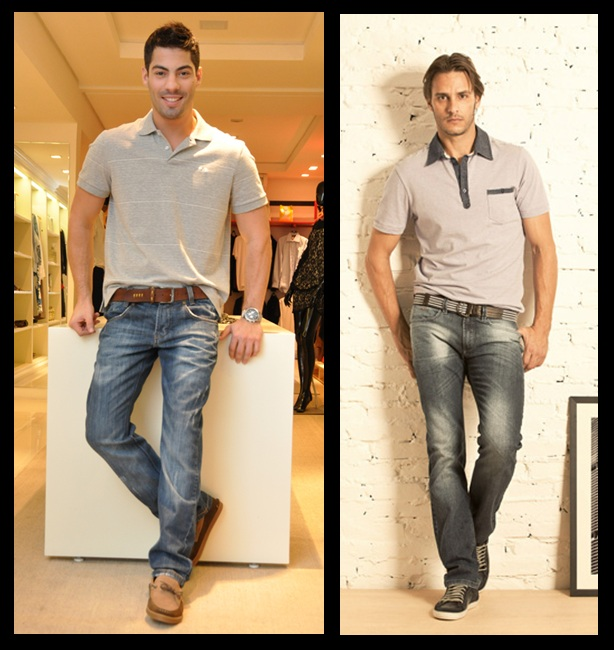 Resultado de imagem para calça jeans masculina blusa polo