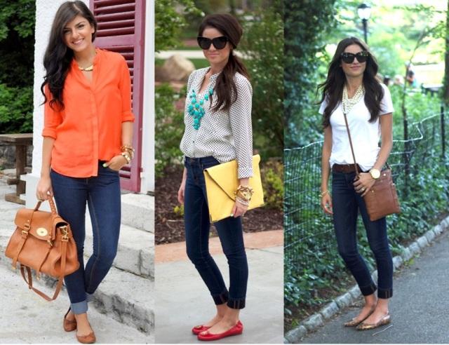 01_Look para casual day_Calça jeans com a barra dobrada_look de jeans feminino_look com calça jeans