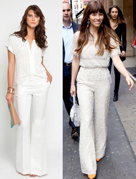 01_Look todo branco_calça branca e blusa de laise_macacão branco de renda_jessical biel
