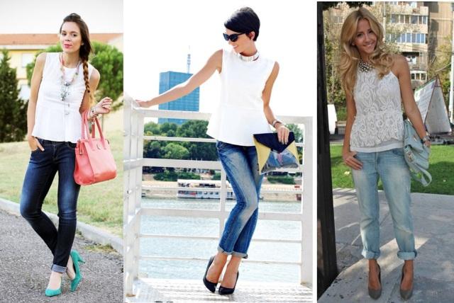 03_Look para casual day_Calça jeans com a barra dobrada_look de jeans feminino_look com calça jeans