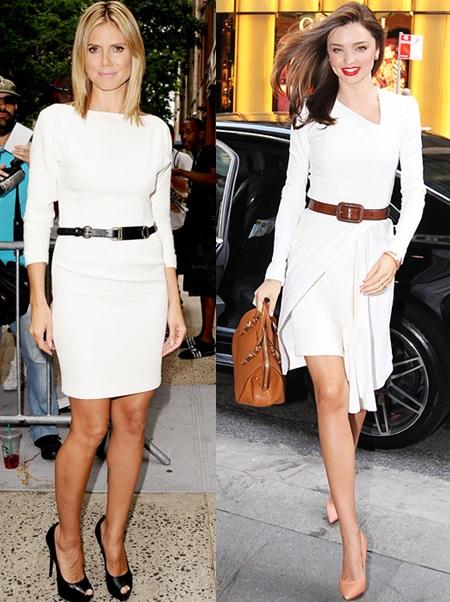 03_Look todo branco_vestido branco com cinto preto_vestido branco com cinto marrom