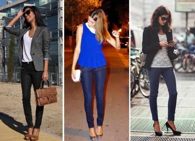 04_CASUAL DAY _calça skinny jeans e blazer_calça skinny jeans e blazer preto_calça skinny e blusa peplum