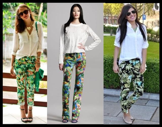 04_Estampa tropical em looks para o trabalho_calça estampada e camisa branca