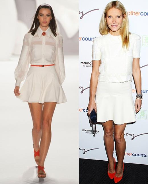 04_Look todo branco_saia branca e sapato vermelho_saia branca e cinto laranja