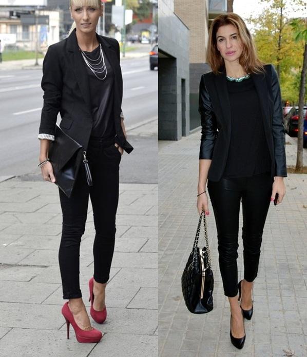 04_Looks de trabalho_looks femininos_Looks para entrevista de emprego_Calça preta_blazer preto_look total black