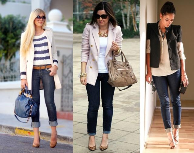 06_Look para casual day_Calça jeans com a barra dobrada_look de jeans feminino_look com calça jeans