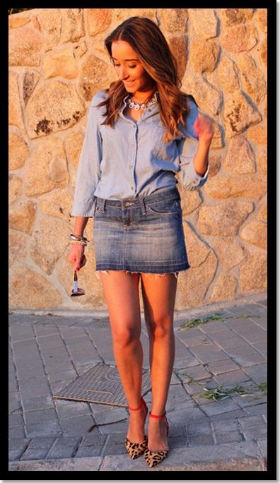 26.01.2013.Look Inspiração_look do dia_look saia e camisa jeans_look total jeans