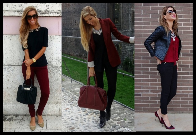 02_Burgundy_A cor tendencia do Inverno 2013_looks Burgundy com preto
