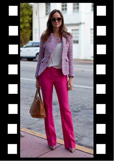 04.02.2013_Look para trabalhar_Look de Inspiração_calça flare rosa_blazer_sapato nude