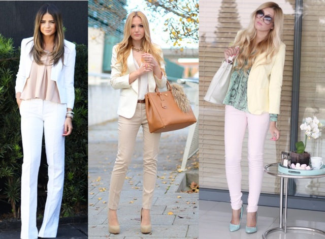 05_Look calça clara_look para trabalhar_look calça branca com blazer branco_look calça bege com brazer branco
