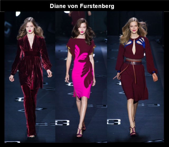 12_Looks Burgundy_A cor tendencia do Inverno 2013_Burgundy no NYFW Fall 2013_Diane von Furstenberg