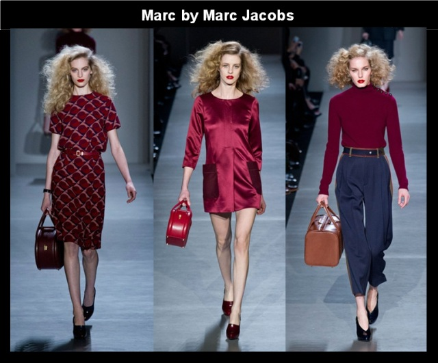 13_Looks Burgundy_A cor tendencia do Inverno 2013_Burgundy no NYFW Fall 2013_Marc by Marc jacobs