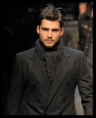 00_Cachecol para homem_Homem de cachecol_scarf Men_moda masculina