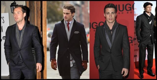 03_Cachecol para homem_Homem de cachecol_scarf Men_moda masculina_look para trabalhar_cachecol e terno
