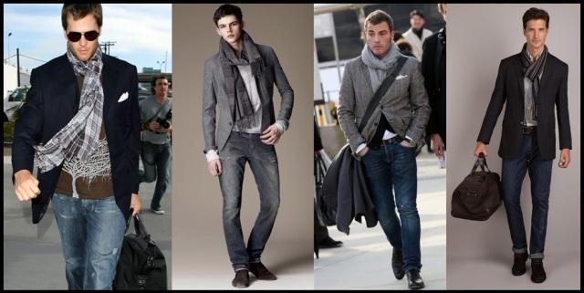 05_Cachecol para homem_Homem de cachecol_scarf Men_moda masculina_look para trabalhar_cachecol_blazer_calça jeans_look casual day masculino