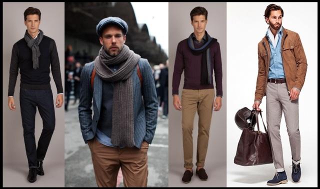 06_Cachecol para homem_Homem de cachecol_scarf Men_moda masculina_look para trabalhar_look casual day masculino
