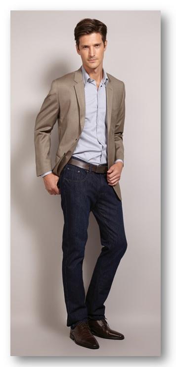 Moda masculina_Look do dia_look de trabalho no casual day_ calça jeans e blazer