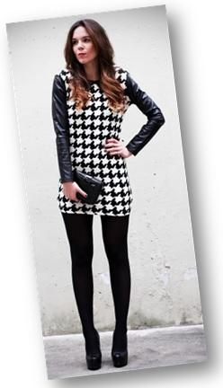00_Lookbook para trabalhar_look de inverno_vestido estampado e meia calça preta