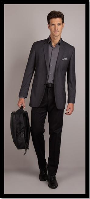 00_Moda masculina_Look do dia_look inspiração do dia_look para trabalhar_moda trabalho_look para o trabalho_calça preta e paletó cinza