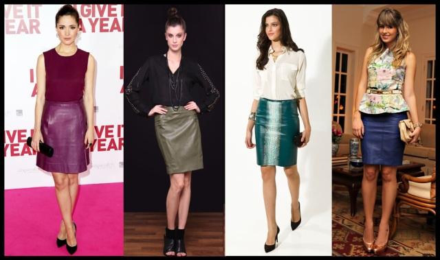 08_Como usar saia de couro_Look para trabalhar_saia de couro colorida_saia de couro com camisa