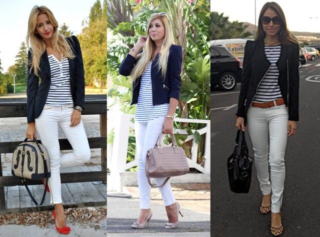 08_Look do dia_casual day_listras_look para trabalhar_calça branca e jaqueta