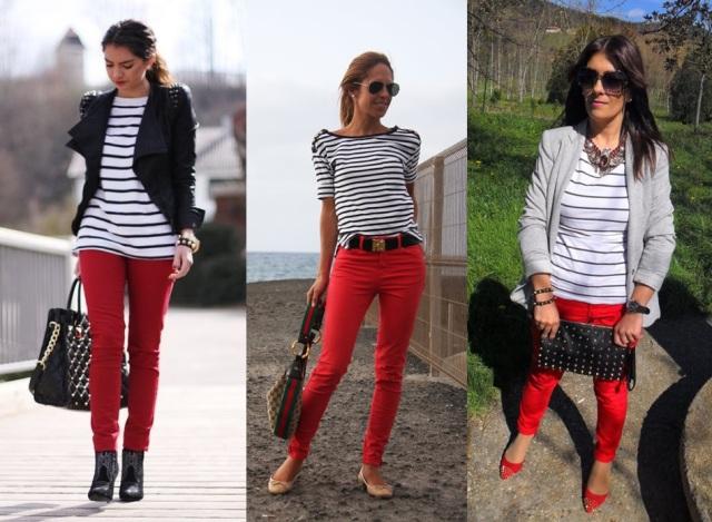 10_Look do dia_casual day_listras_look para trabalhar_calça vermelha