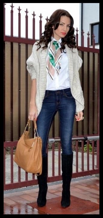 00_Look para o casual day_jeans e bota de cano alto_bota montaria_look para trabalhar_como usar bota montaria_calça jeans e bota preta