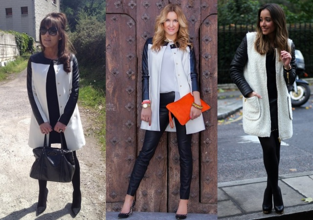 01_ Look de inverno_look para trabalhar_casaco bicolor_casaco preto e branco_black and white coat