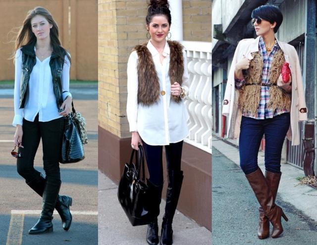 02_Look para o casual day_jeans e bota de cano alto_bota montaria_look para trabalhar_como usar bota montaria_calça jeans e bota_camisa e colete