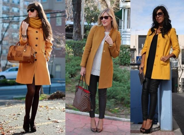 07_ Look de inverno_look para trabalhar_casaco mostarda_Casaco cor camelo_mustard coat