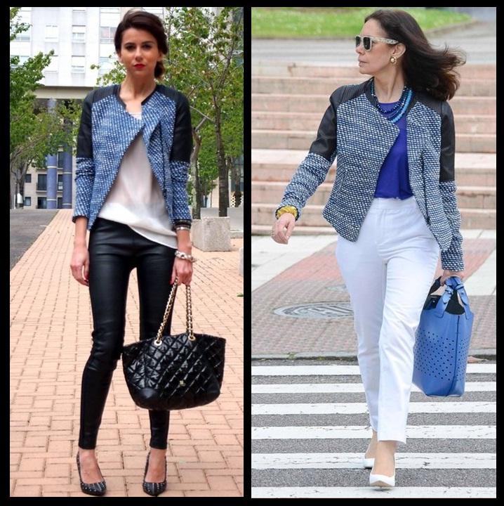 Look inspiração_Look de trabalho_jaqueta zara_ombro de couro_uma jaqueta dois looks_