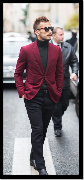 look masculino_moda masculina_Look de trabalho_look de inverno_gola rolê para homem_gola role preta e blazer