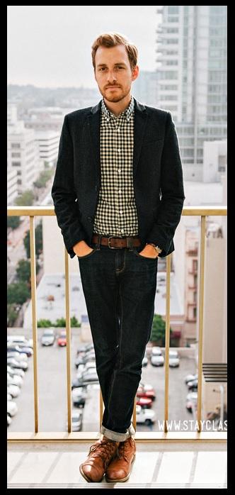 Moda Masculina_casual day_jeans com blazer