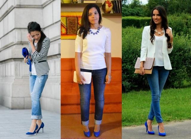 01_Sapato azul_ look para o casual day_ calça jeans com sapato azul_blazer branco