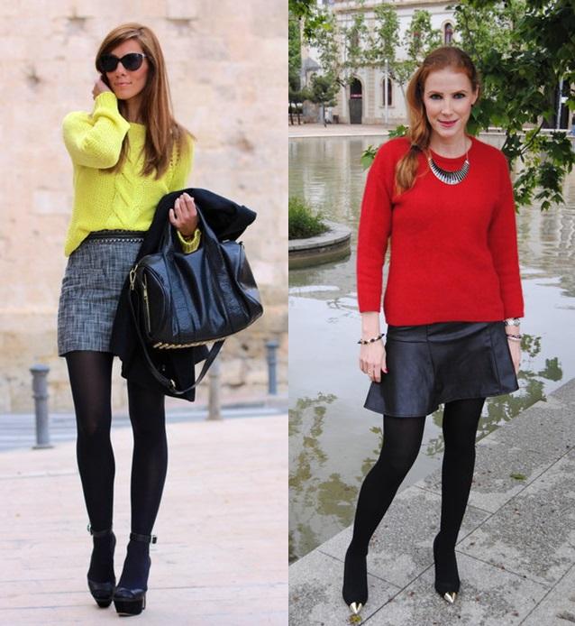 02_Looks de trabalho_Looks de inverno_como usar cores vivas no inverno_blusa colorida_meia calça
