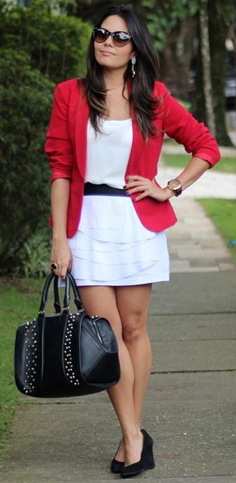 00_combinação de cores_preto branco e vermelho_look de trabalho_moda pra trabalhar