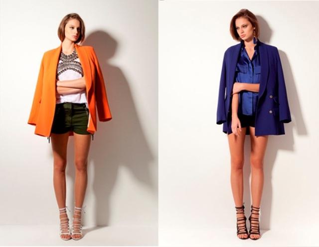 nk_preview verão 2014_short_blazer colorido_laranja_azul royal