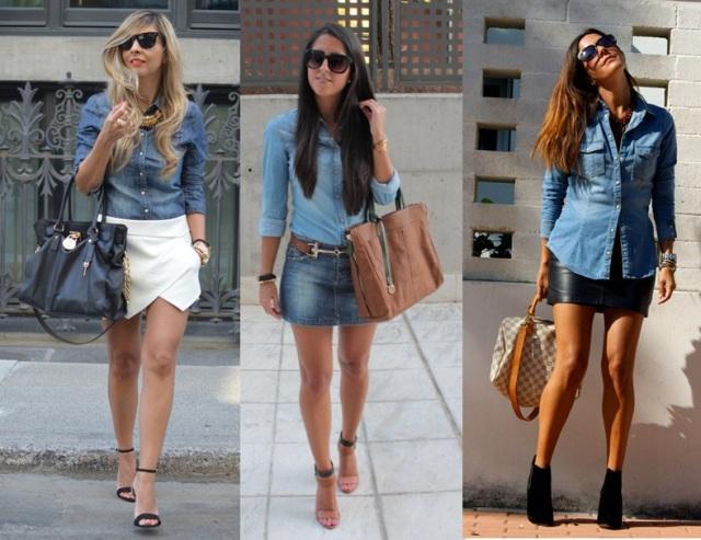 07_Look Camisa jeans_expediente da moda_camisa jeans e mini saia