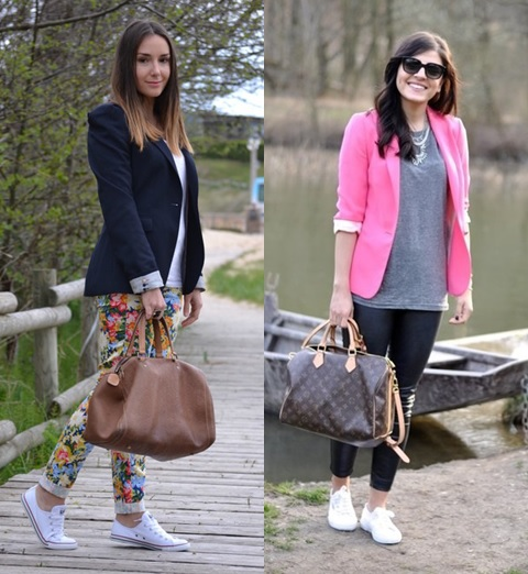 01_inspiração de look do dia_look de domingo_blazer e tenis