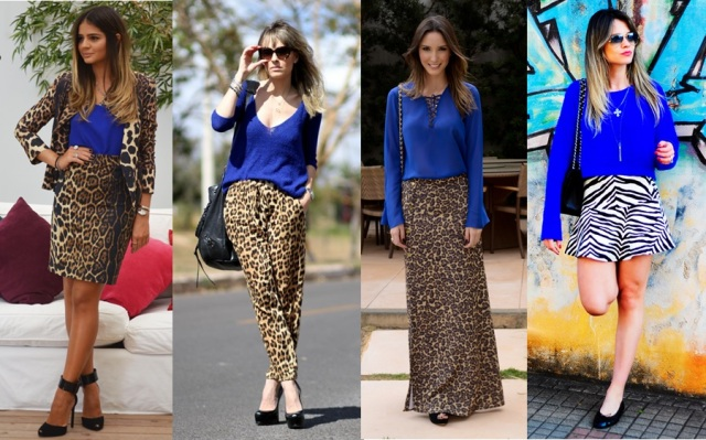 02_dica de moda_como usar animal print_estampa de animal_look do dia_expediente da moda_animal print com azul