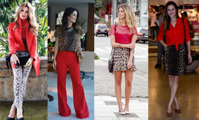 03_dica de moda_como usar animal print_estampa de animal_look do dia_expediente da moda_look animal print com vermelho