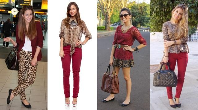 04_dica de moda_como usar animal print_estampa de animal_look do dia_expediente da moda_look animal print com vinho burgundy