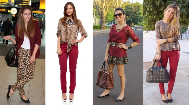 04_dica de moda_como usar animal print_estampa de animal_look do dia_expediente da moda_look animal print com vinho burgundy
