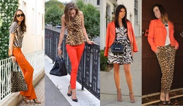 05_dica de moda_como usar animal print_estampa de animal_look do dia_expediente da moda_look animal print com laranja