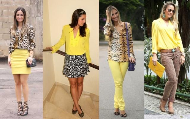 07_dica de moda_como usar animal print_estampa de animal_look do dia_expediente da moda_look animal print com amarelo