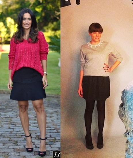 08_inspiração de look do dia_look de domingo_blusa de malha e salto alto_blusa de linha e saia