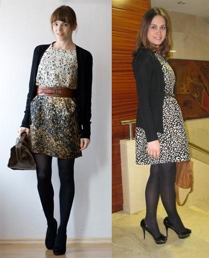 Inspiração do dia_dica de moda_look do dia_expediente da moda_vestido no inverno_vestido com meia calça_vestido e cardigã