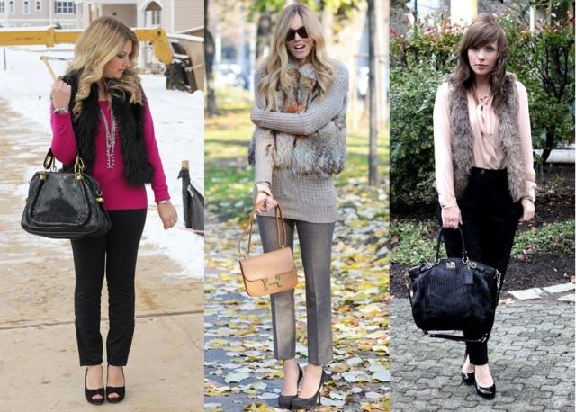 01_Colete de pelucia_looks para o trabalho_fur vest_colete de pelo fake_colete de pelucia_como usar_colete de pelucia com calça social