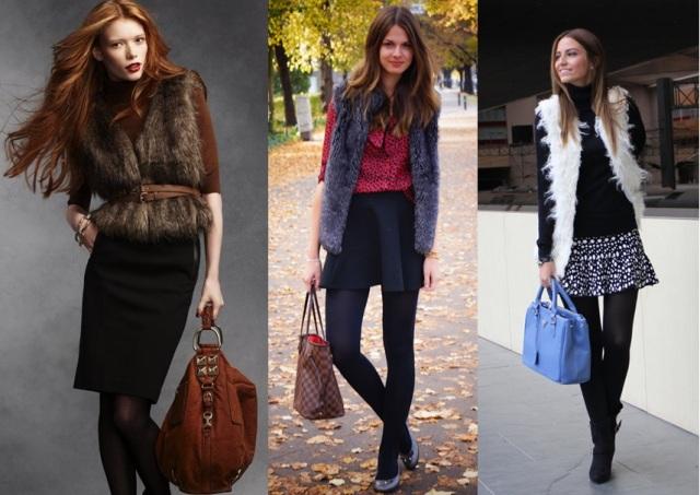 02_Colete de pelucia_looks para o trabalho_fur vest_colete de pelo fake_colete de pelucia_como usar_colete de pelucia pelo com saia