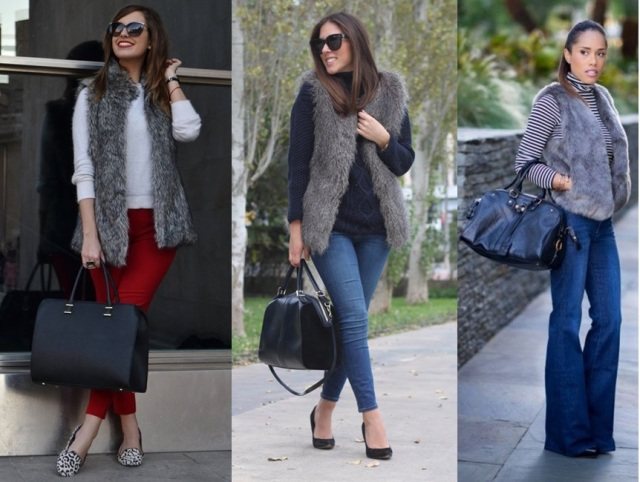 08_Colete de pelucia_looks para o trabalho_fur vest_colete de pelo fake_colete de pelucia_como usar_colete de pelucia cinza